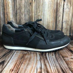Paul Green Women's Black Zipper Sneakers Sz. 7.5